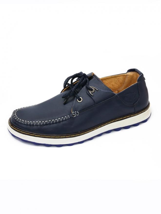 Giày da thời trang xanh đen g45 - 1