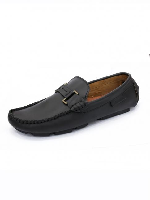 Giày Mọi Da Đen G28