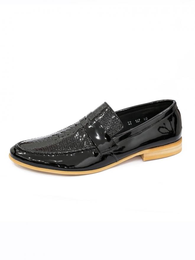 Giày mọi da đen g48 - 1