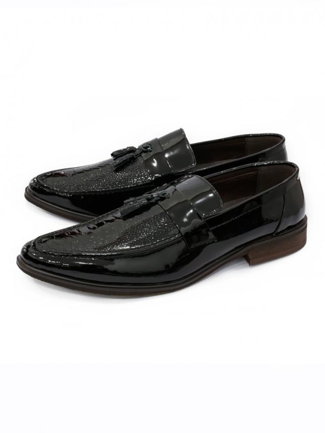 Giày Mọi Da Đen G51