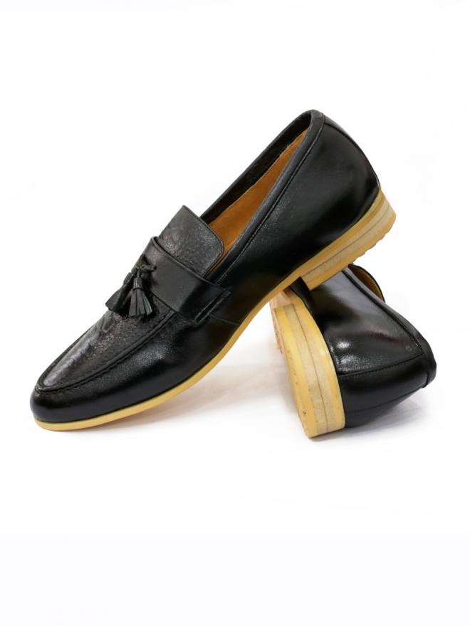 Giày mọi da đen g52 - 1
