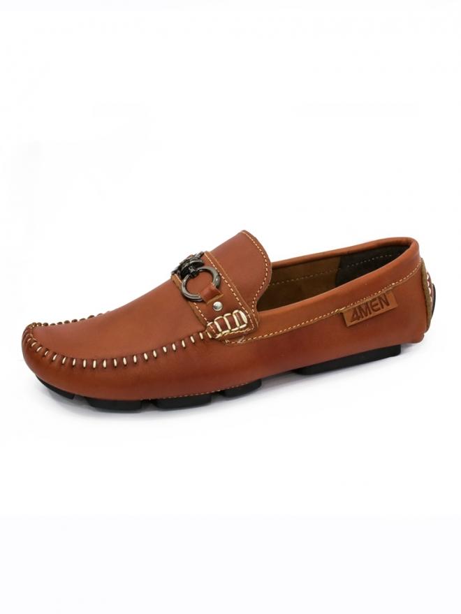 Giày mọi da màu bò đậm g57 - 1