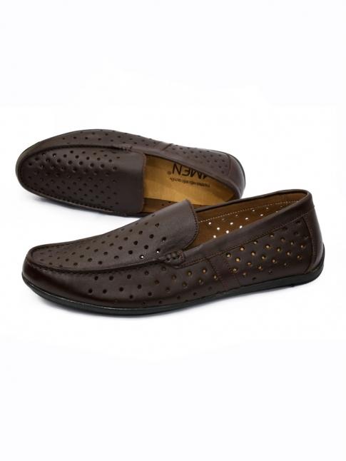 Giày Mọi Da Nâu G30