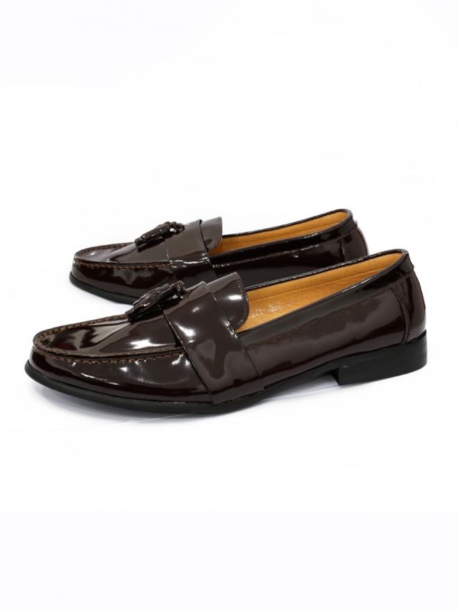 Giày mọi da nâu g34 - 1