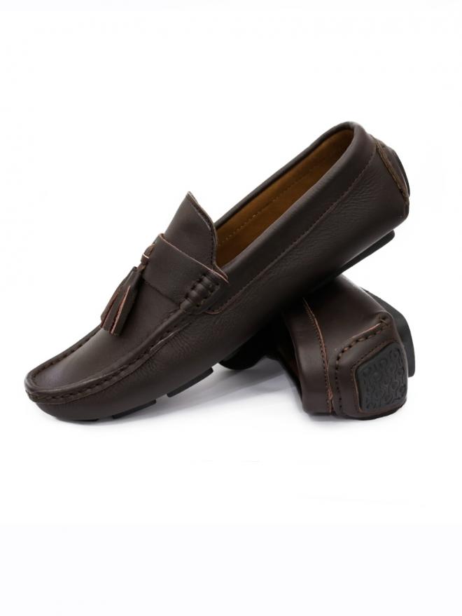 Giày Mọi Da Nâu G58