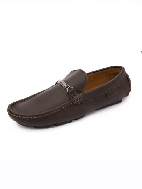 Giày Mọi Da Nâu G59