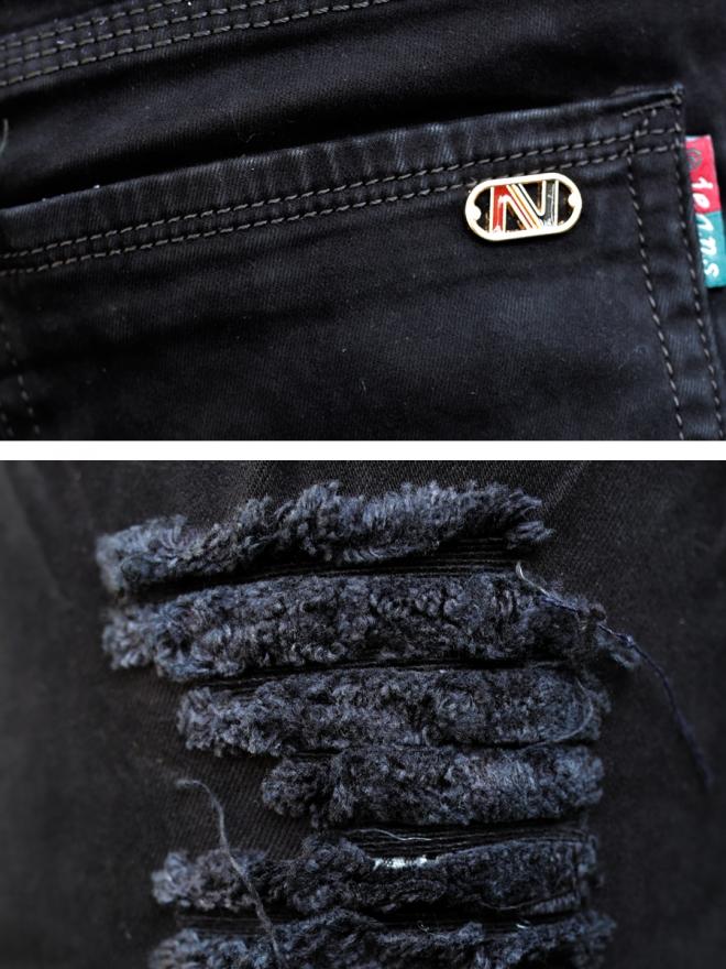 Quần jean rách đen qj1310 - 2