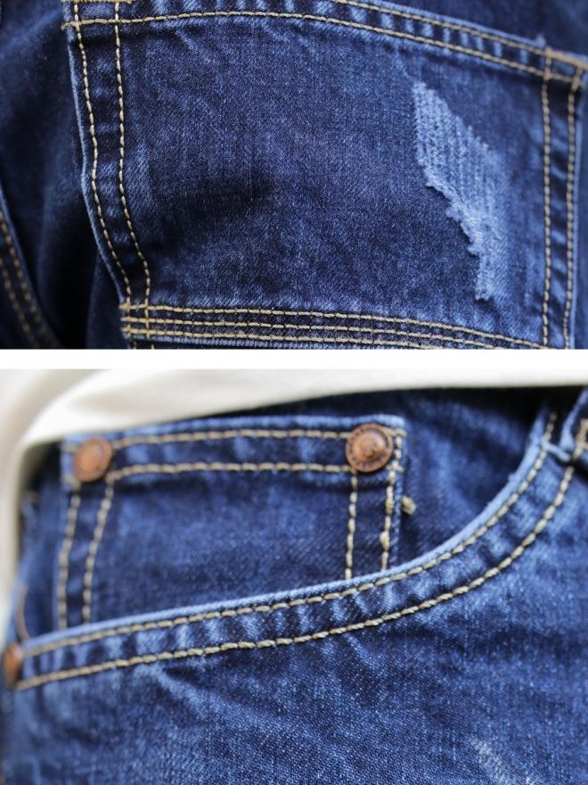 Quần jean rách xanh đen qj1318 - 2