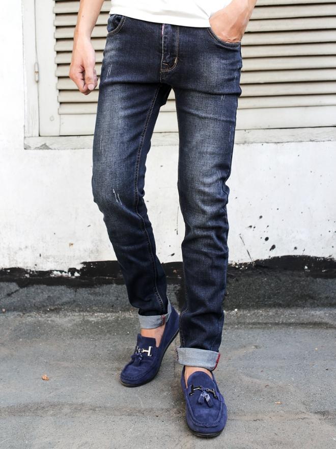 Quần Jean Skinny Xanh Đen QJ1302