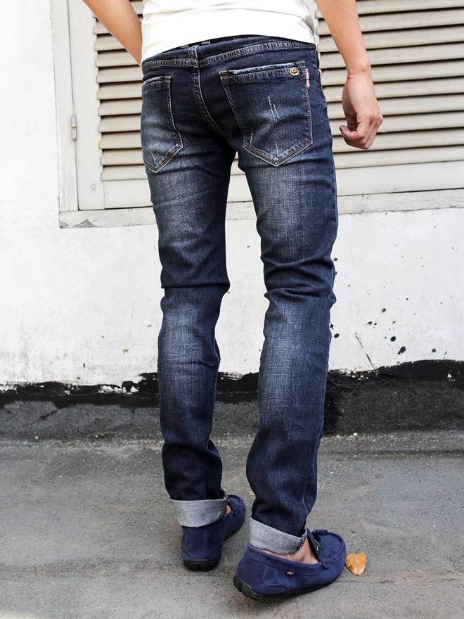 Quần jean skinny xanh đen qj1302 - 2