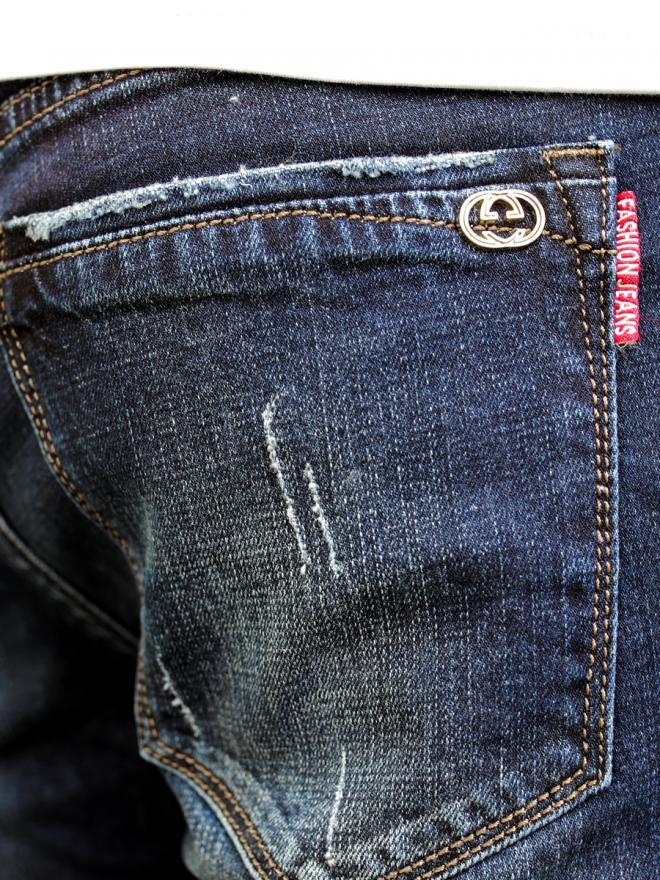 Quần jean skinny xanh đen qj1302 - 3