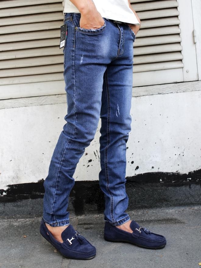 Quần jean skinny xanh đen qj1312 - 2