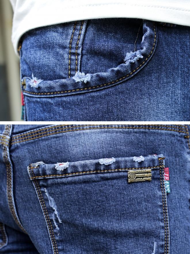 Quần jean skinny xanh đen qj1312 - 3