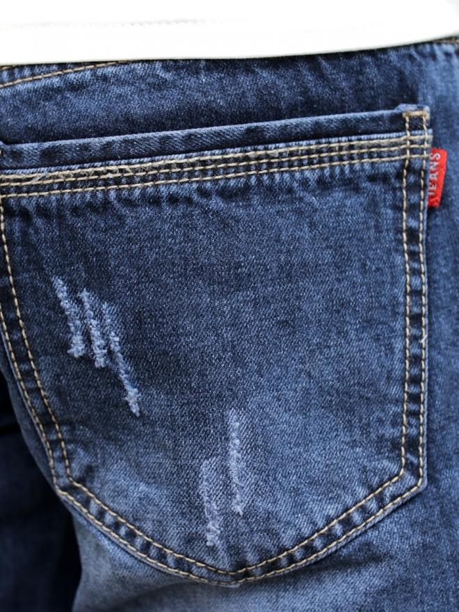 Quần short jean xanh đen qs60 - 2