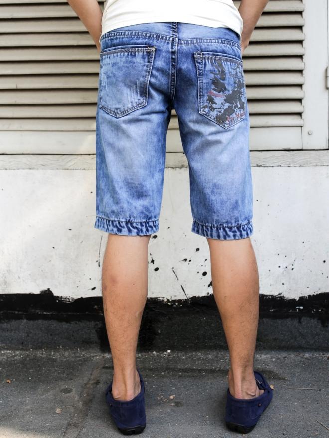 Quần short jean xanh dương qs57 - 2