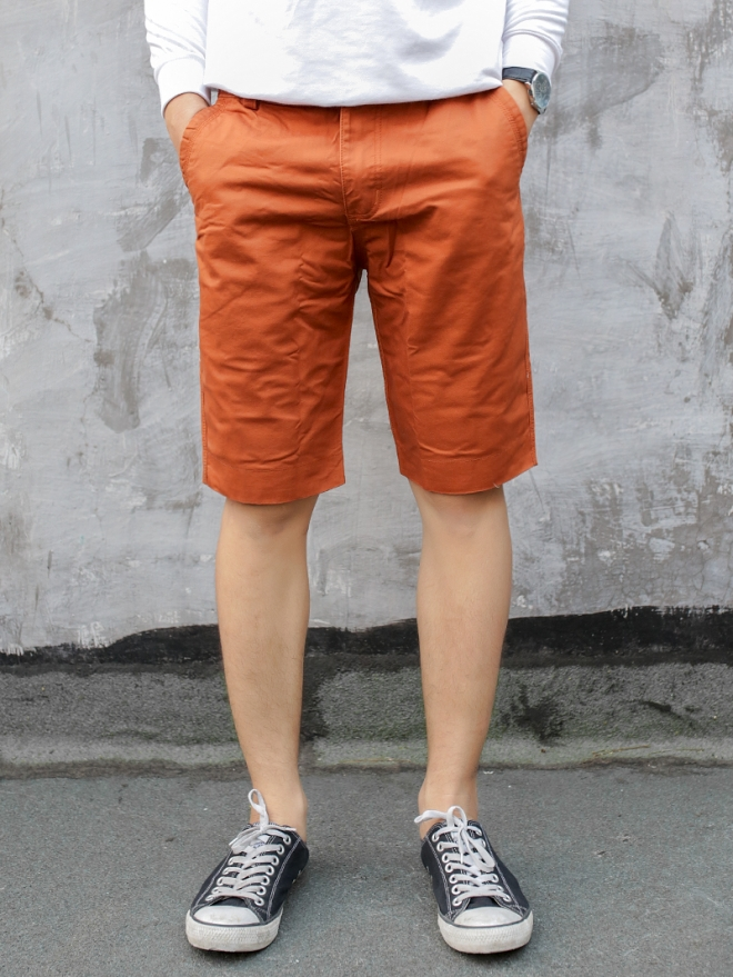 Quần short kaki đỏ cam qs53 - 1