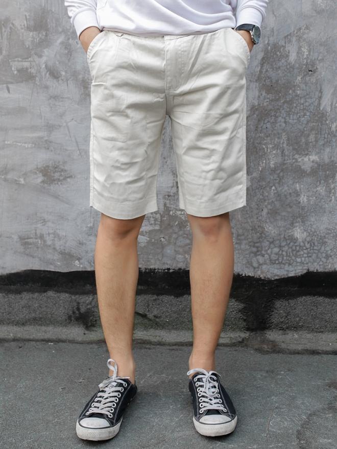 Quần short kaki trắng kem qs53 - 1