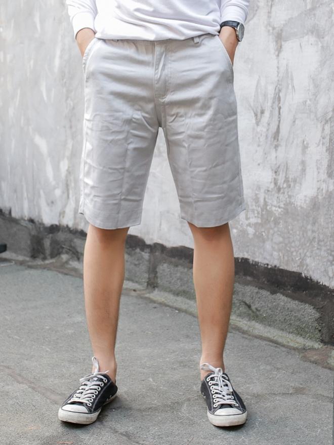 Quần short kaki trắng xám qs53 - 1