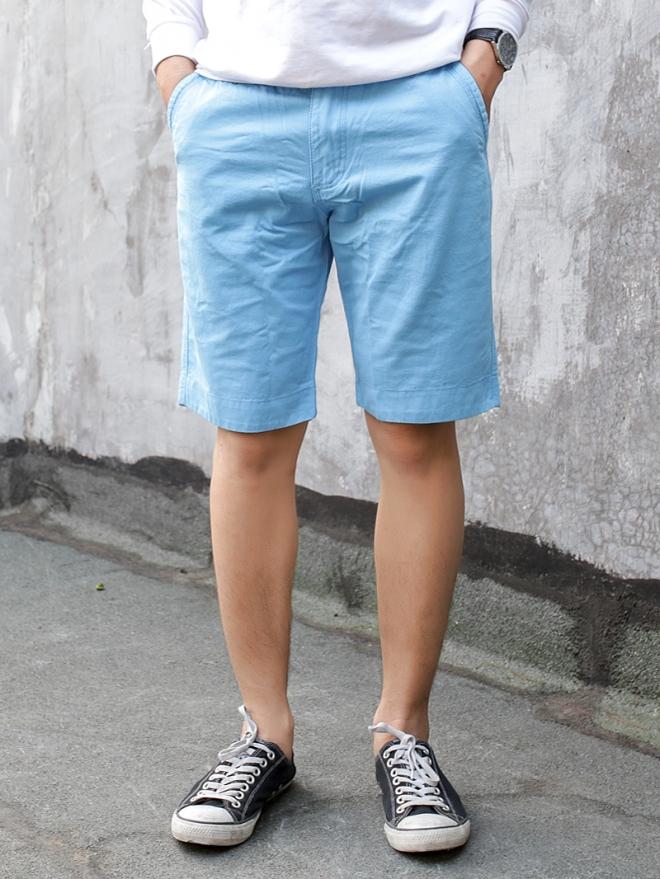 Quần short kaki xanh da trời qs53 - 1