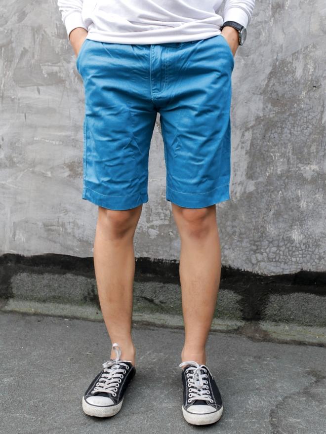 Quần short kaki xanh dương qs53 - 1