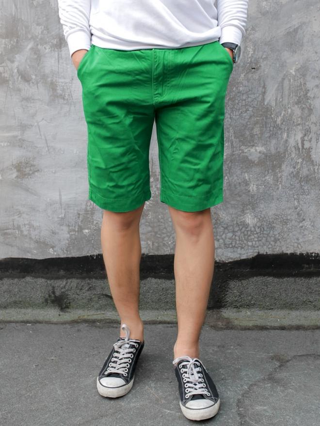 Quần short kaki xanh lá cây qs53 - 1