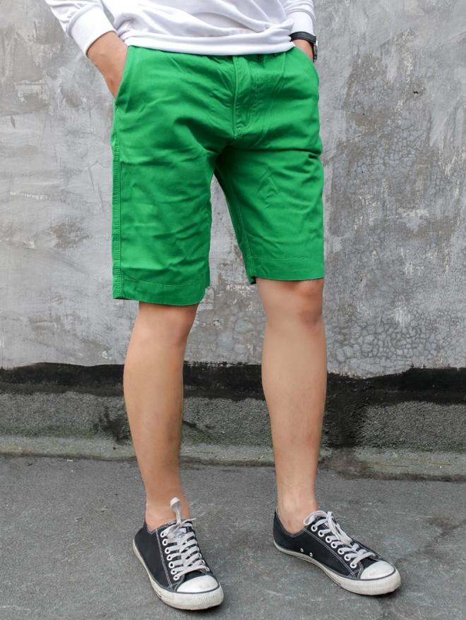 Quần short kaki xanh lá cây qs53 - 2