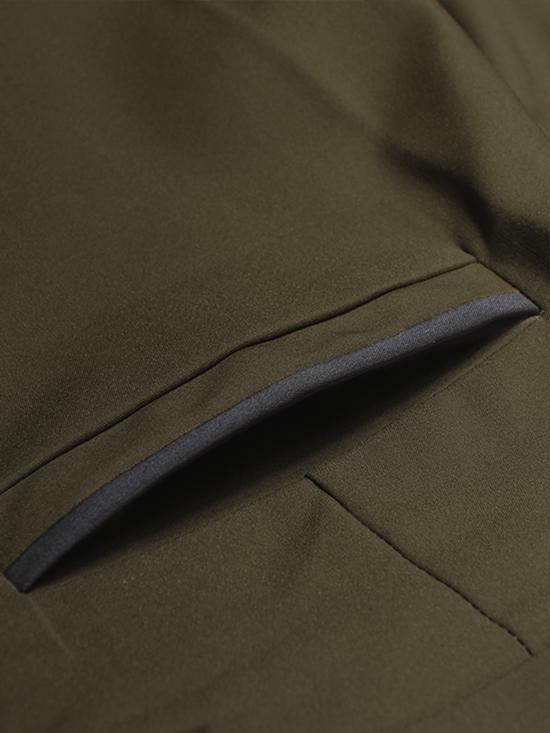 Quần tây xanh rêu co giãn phối túi qt24 - 2