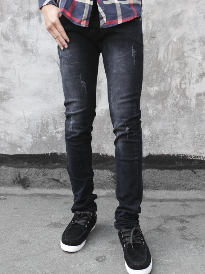 Quần jean skinny đen qj1323 - 1