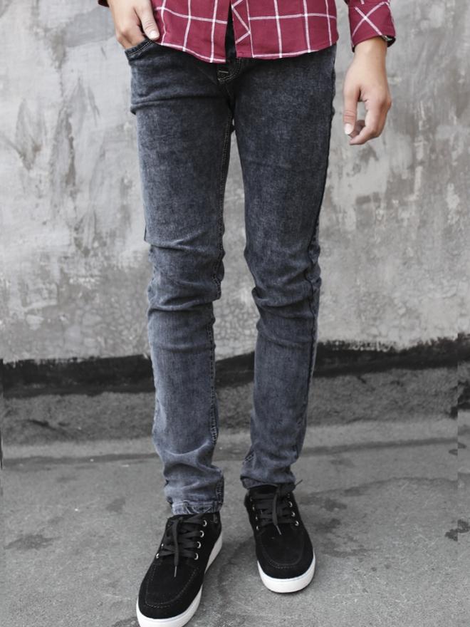 Quần jean skinny xám chuột qj1322 - 1