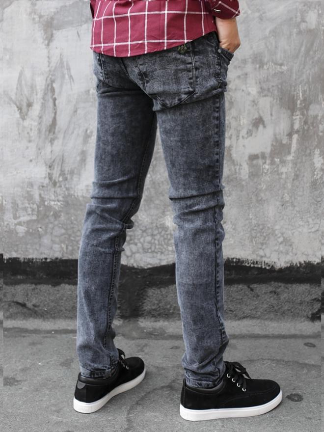 Quần jean skinny xám chuột qj1322 - 2