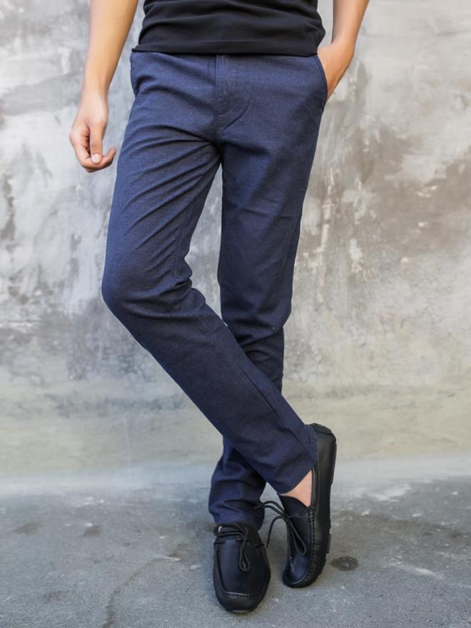 Quần kaki cao cấp xanh đen qk146 - 1