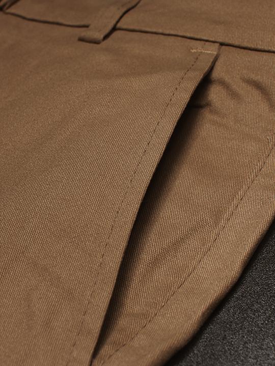 Quần kaki hàn quốc màu cafe qk140 - 2