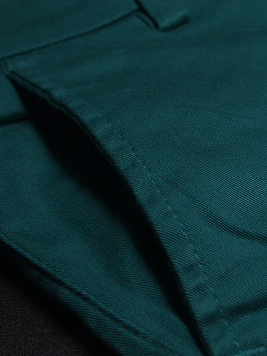 Quần kaki hàn quốc xanh cổ vịt qk140 - 2