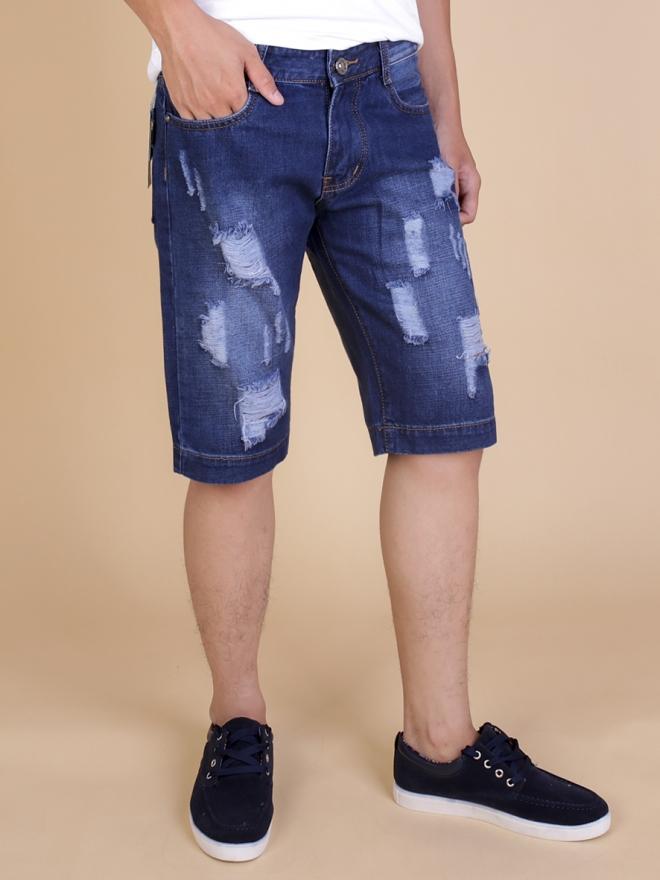 Quần short jean xanh đen qs63 - 1