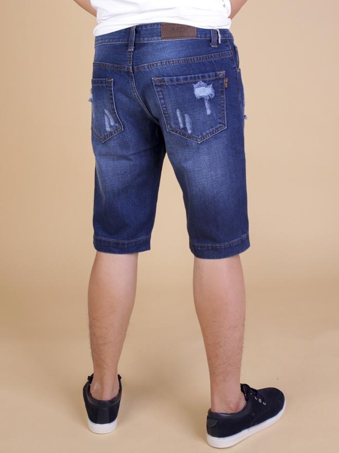 Quần short jean xanh đen qs63 - 2