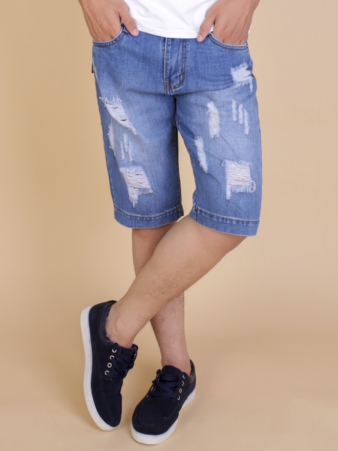 Quần short jean xanh qs63 - 1