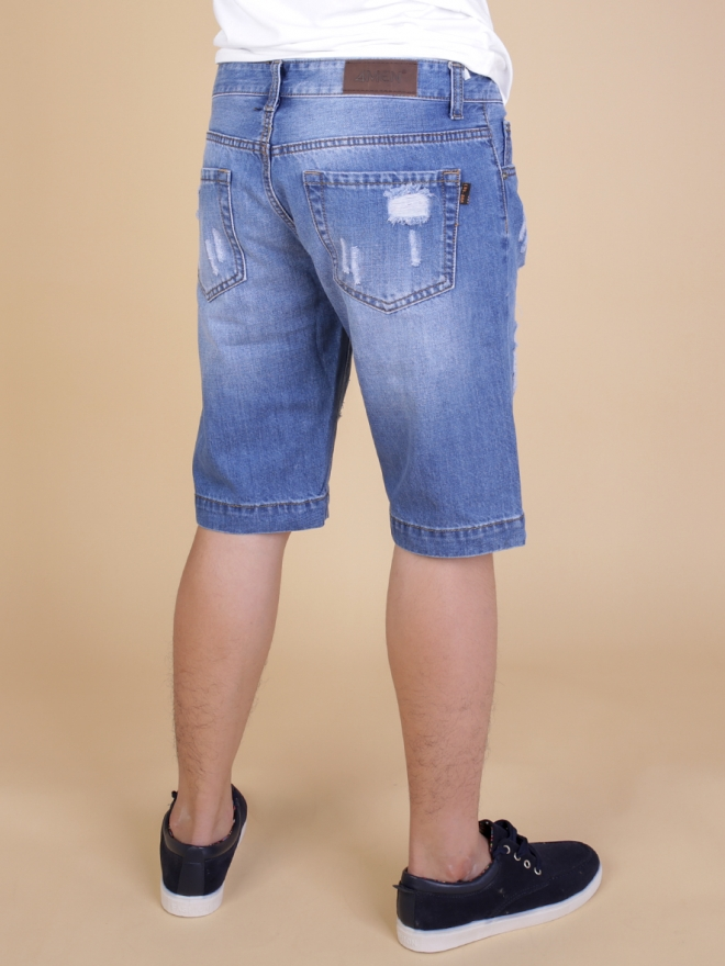 Quần short jean xanh qs63 - 2