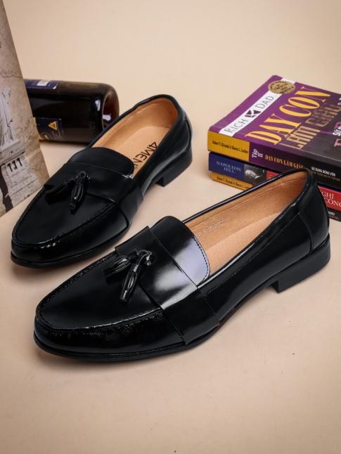 Giày Mọi Da Đen G34