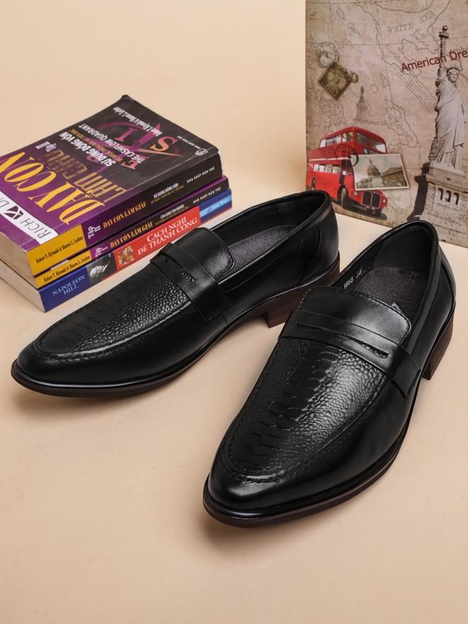 Giày mọi da đen g35 - 1