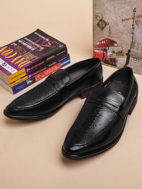 Giày Mọi Da Đen G35