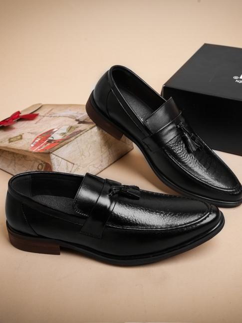 Giày Mọi Da Đen G36