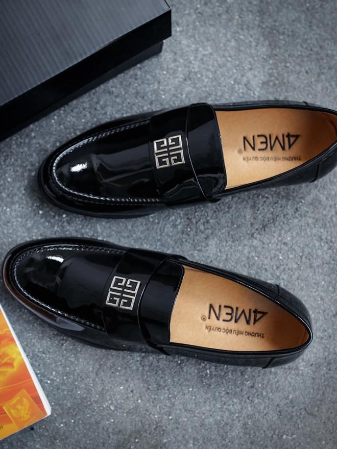 Giày mọi da đen g47 - 1