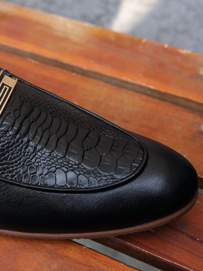 Giày Mọi Da Đen G63