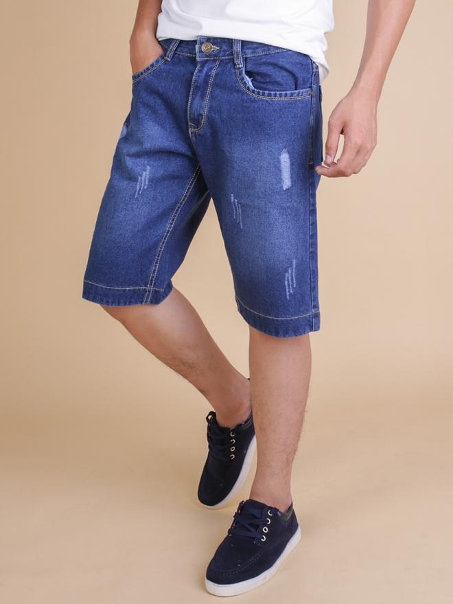 Quần short jean xanh dương qs65 - 1