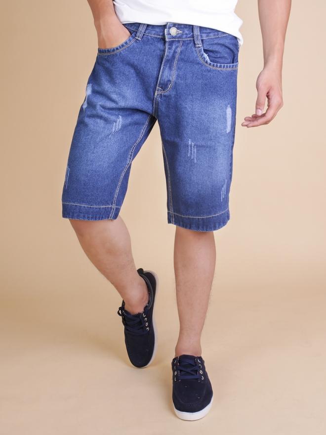 Quần short jean xanh qs64 - 1