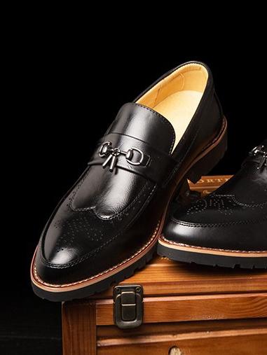 Giày Mọi Da Đen G65
