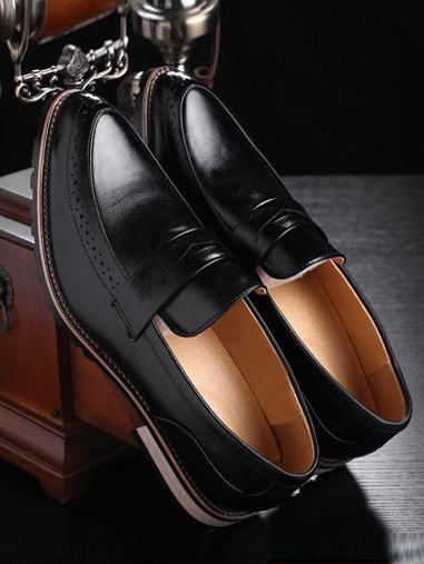 Giày mọi da đen g66 - 1