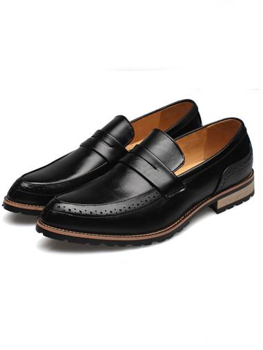 Giày mọi da đen g66 - 2