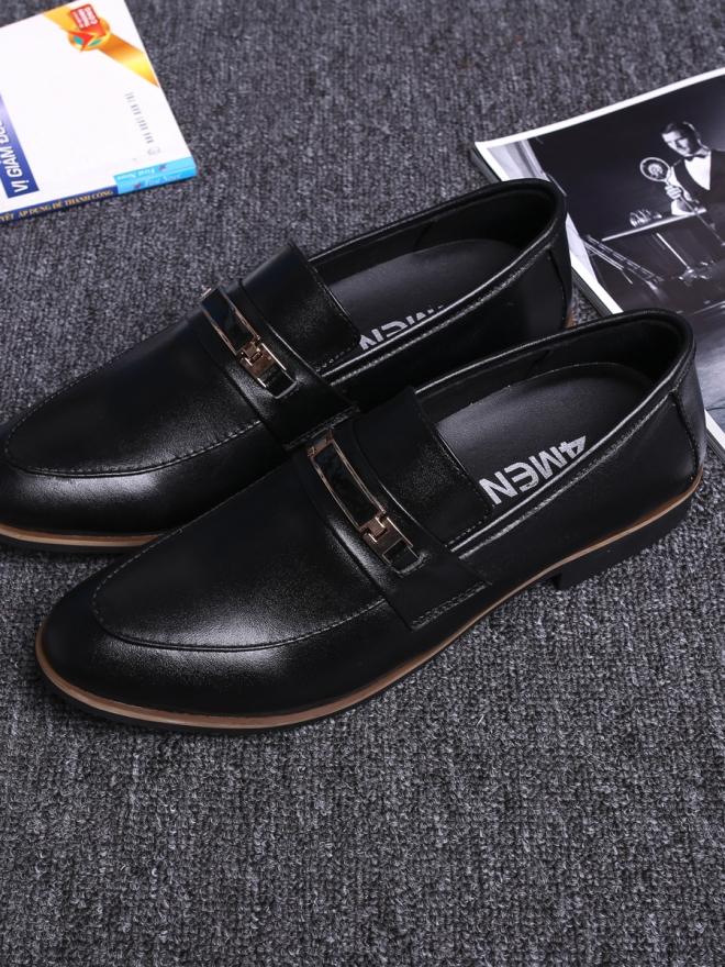 Giày mọi da đen g73 - 1