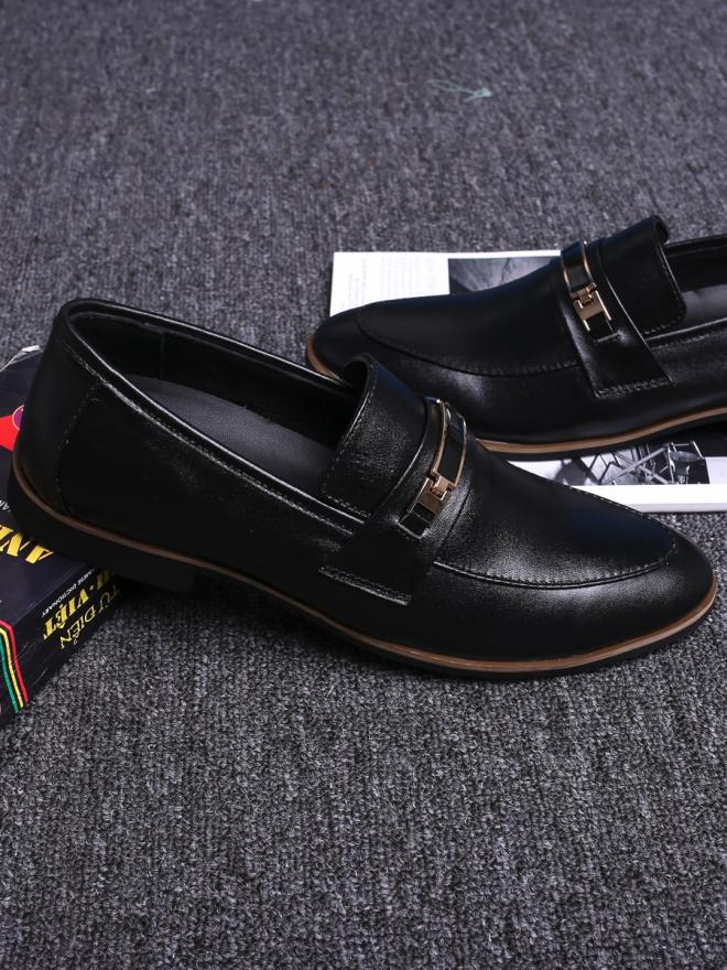 Giày mọi da đen g73 - 2